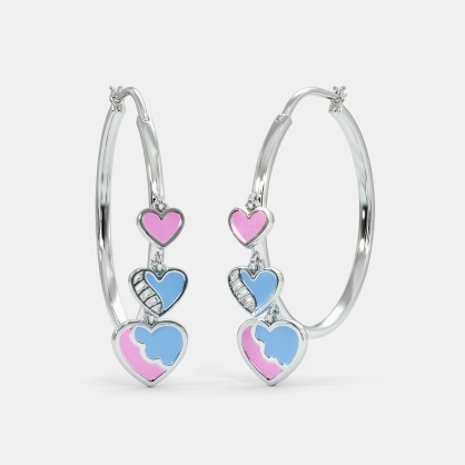 The Vivid Charm Hoop Earrings