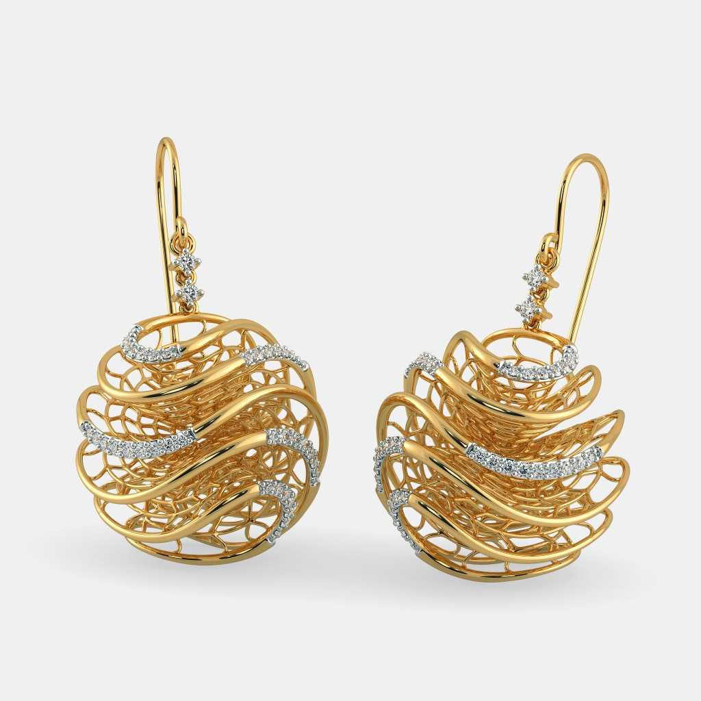 The Round Lattice Earrings