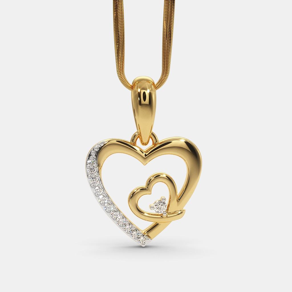 500d214fc2 The Lovers Hearts Pendant   BlueStone.com