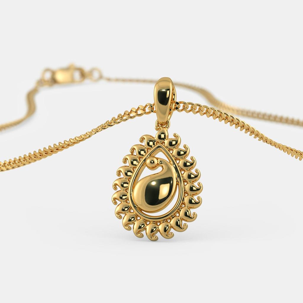 The Enthralling Paisley Pendant