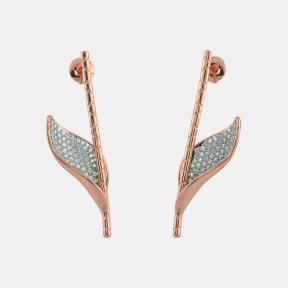The Cilesi Roseate Leaf Drop Earrings