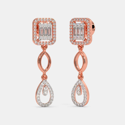 The Albira Bridal Drop Earrings