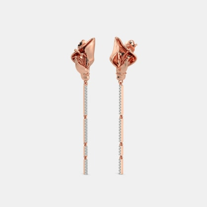 The Flamma Roseate Drop Earrings