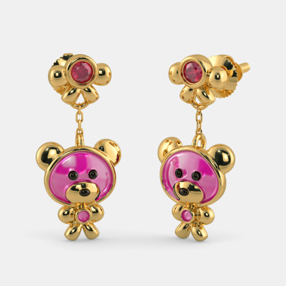 The Adorable Bear Earrings for Kids