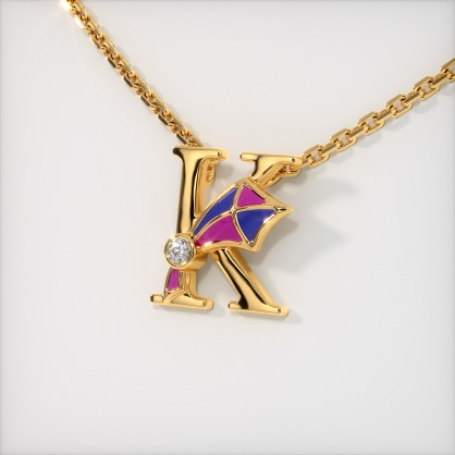 The K for Kite Necklace for Kids