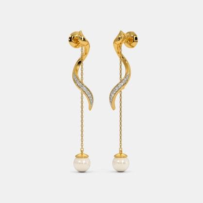 The Twirl Around Ribbon Dangler Earrings