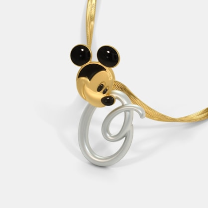 The O For Oliver Mickey Pendant For Kids