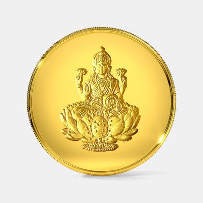 10 gram 24 KT Lakshmi Gold Coin