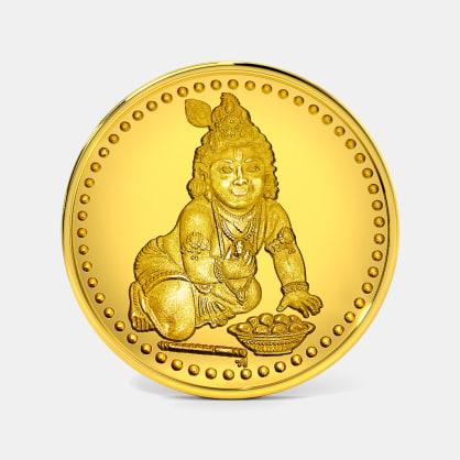 2 gram 24 KT Krishna Gold Coin