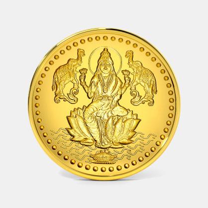50 gram 24 KT Lakshmi Ji Gold Coin