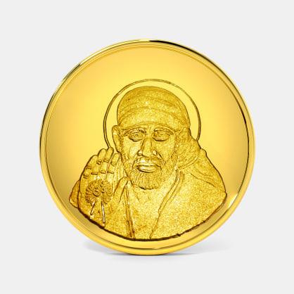 50 gram 24 KT Saibaba Gold Coin