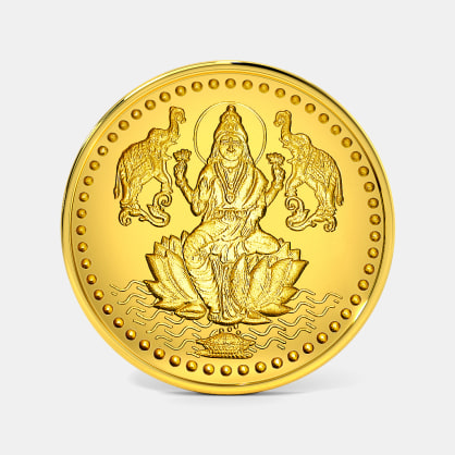 5 gram 24 KT Lakshmi Ji Gold Coin
