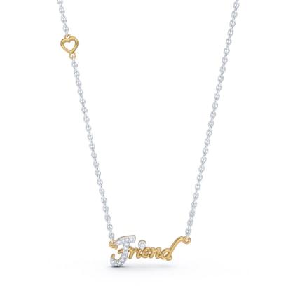 The Friend Script Necklace