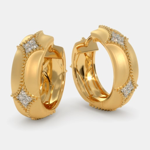 Hoops Earrings 100 Earring Designs Online In India 2018 Bluestone