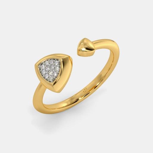 The Barett Pave Top Open Ring