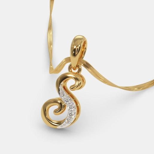 722288eabd Buy 50+ Diamond Alphabet Pendant Designs Online in India 2019 ...