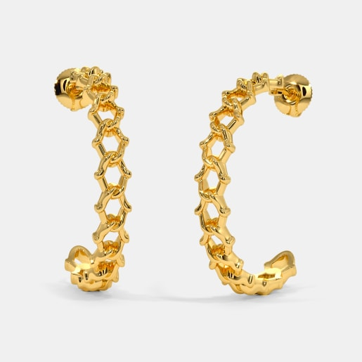 The Tussore Hoop Earrings