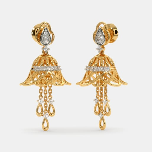37bdb35fd Buy 50+ Gold Jhumka Earring Designs Online in India 2019 | BlueStone.com
