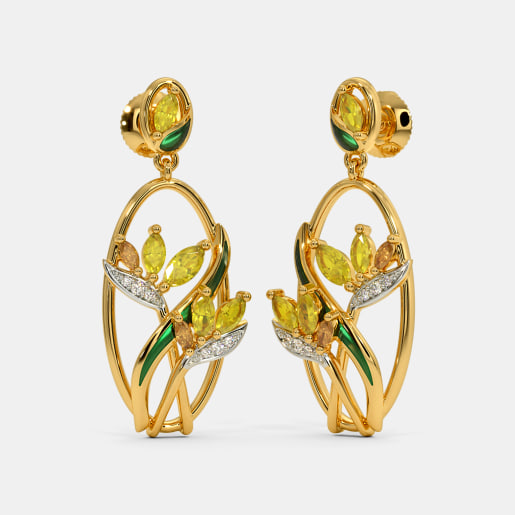 The Bird of Paradise Drop Earrings