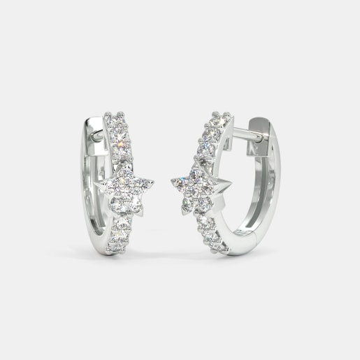 The Darcy Star Huggie Earrings