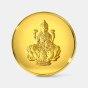 2 gram 24 KT Lakshmi Gold CoinFront